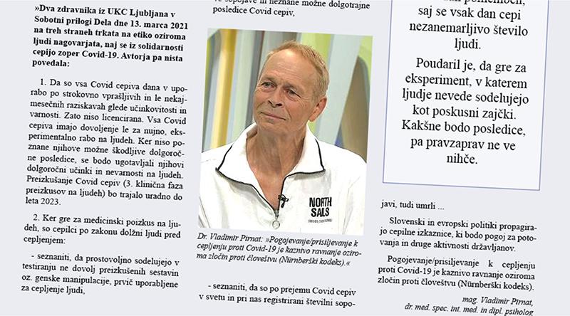 Dr. Vladimir Pirnat o zamolčanih nevarnostih Covid cepiv