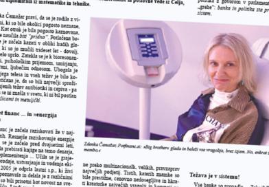 Zdenka Čemažar: »Prehajamo v nov sistem, zgodil se bo brez posebej opaznih sprememb in prekril bo stari korupcijski svet.«